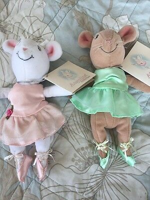 Angelina Ballerina 2002 Flair Bundle Of Dolls With Tags