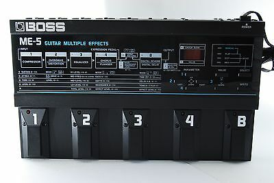 BOSS ME-5 Vintage Guitar Multiple Effects Pedal ME5  [Excellent++] From Japan