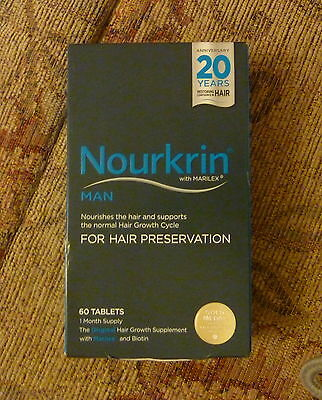 Nourkrin Man Hair Preservation  Programme (60 tablets) ((NEW PRODUCT)exp05-2019