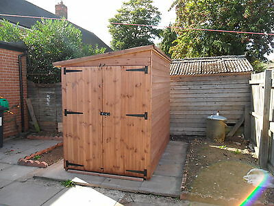 motor bike shed double doors 8ft x 4ft  any size available