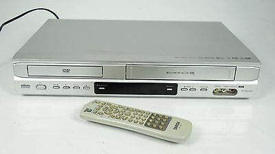 SCHNEIDER SILVA DVC 4015 DivX 6-HEAD VHS VIDEORECORDER / DVD PLAYER MIT FB TOP