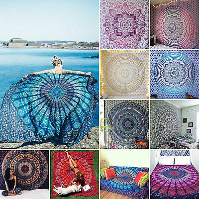 Bohemian Hippie Indian Tapestry Wall Hanging Mandala Throw Bedspread Towel Gypsy