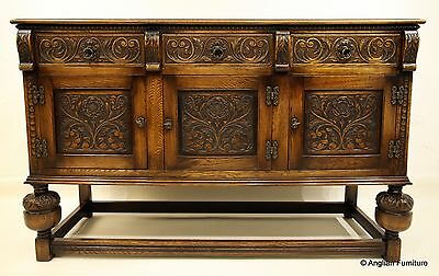 Stunning Oak Sideboard Tudor Style 5ft Wide FREE Nationwide Delivery