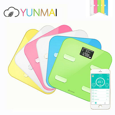 YUNMAI Bluetooth Body Fat Analyser Smart Weighing Scale Wireless iOS Android App