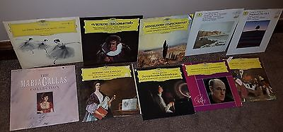Bundle 9x DGG Classical Vinyl LP Records Deutsche Grammophon +1 Maria Callas
