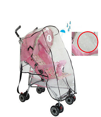 Clear Rain Cover Raincoat Dust Cover for Universal Baby Buggy Pushchair Stroller