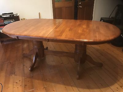 Retro Vintage Extendable Dinning Table Deliv Avail Solid Wood