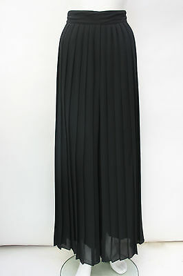 VINTAGE Pleated High Waisted Wide Leg Palazzo Trousers Size S 8 10 Simon ellis
