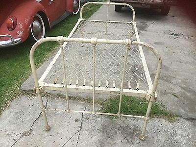 vintage cast iron single bed