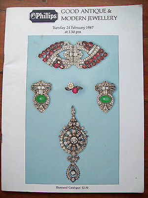 Vintage Catalogue For Antique Jewellery Lots For Phillips Auctioneers London