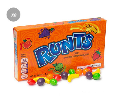 901822 BOX OF 6 x 141.7g NESTLE RUNTS THEATRE BOXES - CANDY - MADE IN THE USA!