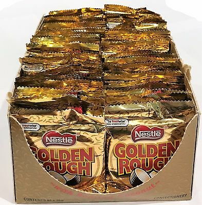 900675 BOX OF 48 x 20g PACKETS OF NESTLE'S FAMOUS CHOCOLATE GOLDEN ROUGH! AUS