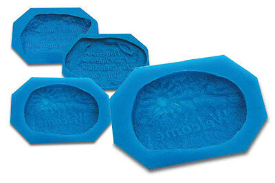 Set of 6 Message Stone Moulds