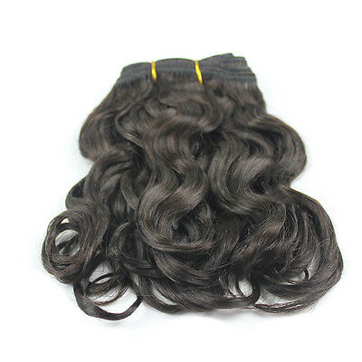 8'' Off Black Virgin Hair Weaves Diwa Wave Brazilian Remy Human Hair Extensions