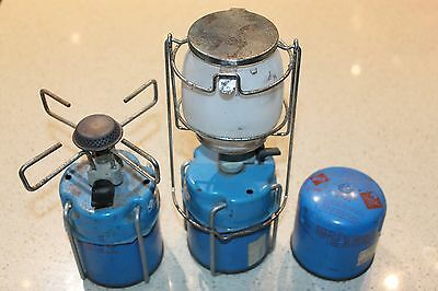 Micro Portable Camping Stove Burner, Lantern and gas cylinder - Great for hiking