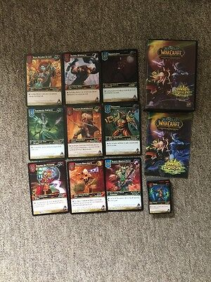 World Of Warcraft Trading Card Game Dark Portal Large Box With Cards