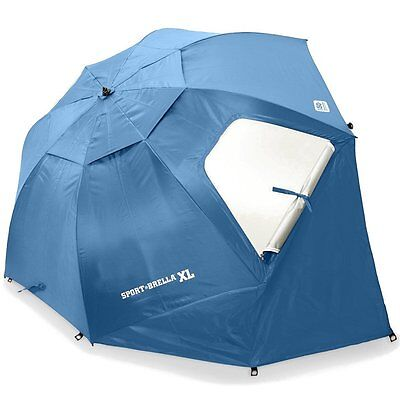 X-Large Beach Umbrella Camping Tent Sun Shade UV Protector Weather Shelter BLUE