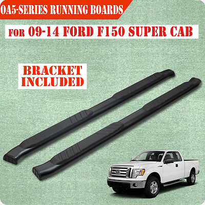 "Fit 09-14 Ford F150 Super Cab 5"" Running Board Nerf Bar Side Step BLK OA"