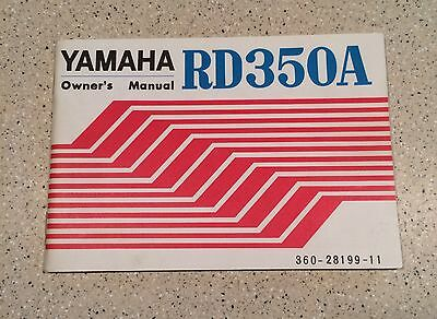 1974 Yamaha RD350A NOS owners manual with original plastic pouch