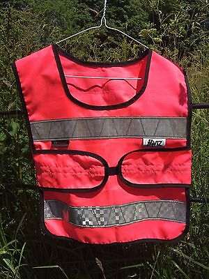 Hy Viz  Adjustable Tabard Pink With Reflective Strips Teen Size Chest 71-100cm