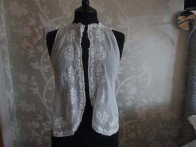 Edwardian antique camisole bodice top blouse embroidery lace