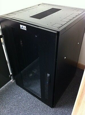 "24U 19"" U Systems Cabinet / Rack Housing With Vented Glass door & Castors"
