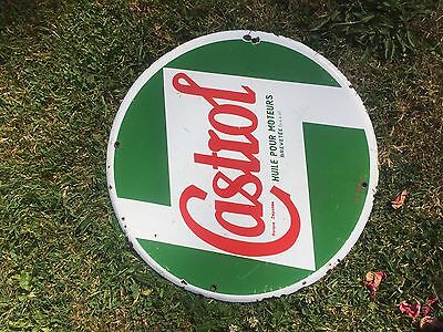plaque emaillee ancienne garage Huiles Castrol