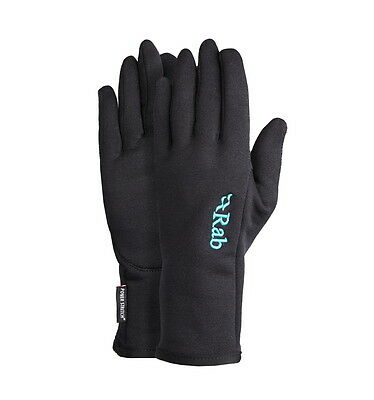 Rab Womens Powerstretch Pro Gloves 4 Way Stretch Black