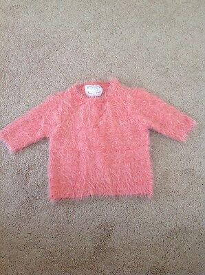 Bnwot Girls Fluffy Pink Top Age 10-11 Years