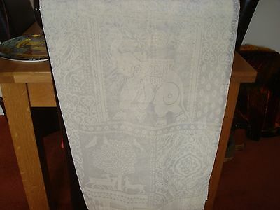 New  3 Very Unusually Patterned Cream Net Curtains With Tie Backs