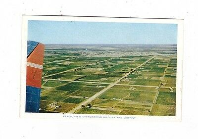 Australia VICTORIA Postcard, AERIAL VIEW OVERLOOKING MILDURA & DISTRICT Vic
