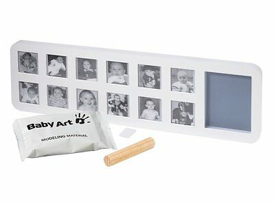 Baby Art Cadre Photo Modern 1st Year Print Frame - Blanc/Gris