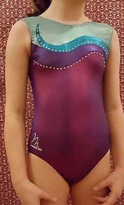 """💗 Girls,MILANO BODICE LEOTARD💗 FOIL💗 SIZE=PET=32""""= guide only 10-13 years 💗"""