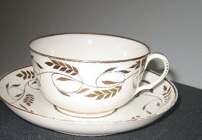 Swansea Fine Bone China Cup And Saucer Rare Antique, Gold Leaf Design