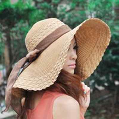 Sun for Floppy + Beach Brim Wide Large US Cap Straw Women Bow Summer Big Hat Hot