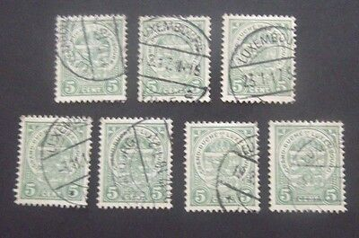 Luxembourg-1906-5c Excess Stock-Used