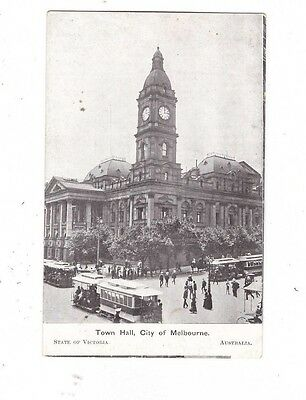 Australia VICTORIA Postcard, TOWN HALL CITY of MELBOURNE