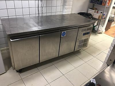 3 Door 1m 80cm Long Stainless Steel Prep Fridge