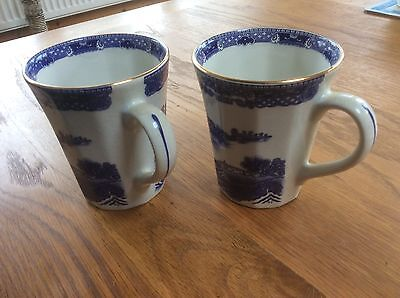 Ringtons  Willow Pattern Mugs By Wade