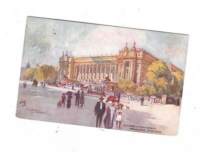 Australia VICTORIA Postcard, HOUSES of PARLIAMENT,  MELBOURNE