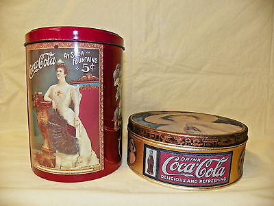 COCO-COLA DECORATIVE TINS - Two Vintage Tins -