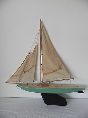 Rare Bowman Pond yacht model sailing boat complete