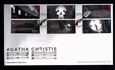 GB 2016 Royal Mail Agatha Christie First Day Cover  Unaddressed