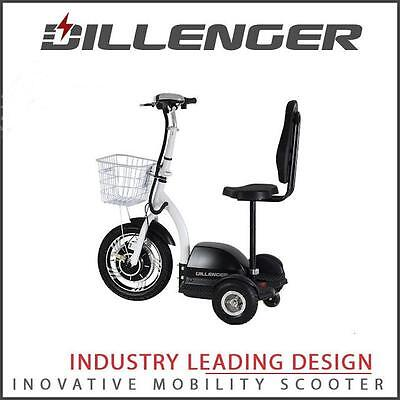 DILLENGER YX Black 3 wheel 25 kph Mobility Scooter Trike Collapsable Fast Cheap