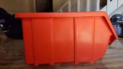parts storage boxes 125mm H 130 mm W 225 mm L  Red x 10