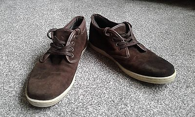 Men's Brown Suede Shoe Boots Size 8