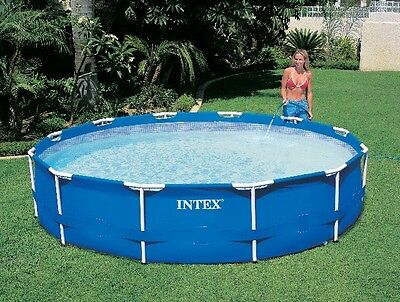 Large Inflatable and Power Steel Oval Garden Swimming Pool