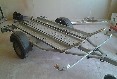 Twin motorcycle trailer, brenderup, 600kg.