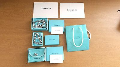 Genuine Tiffany & Co Collection Joblot Of Sterling Silver 925 Bead Jewellery