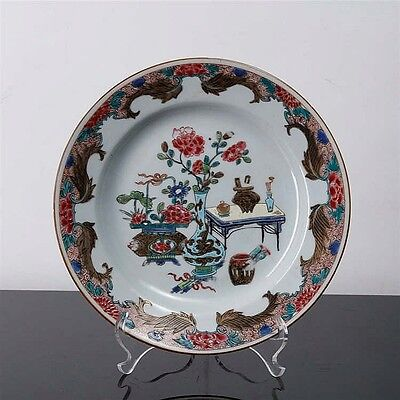 PLATE In chinese export porcelain, 18th century. Famille rose decor